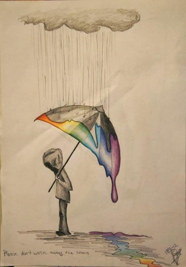 40 صورة ملونة باستخدام أقلام الرصاص #Pencil_Drawing #فن - صورة 7