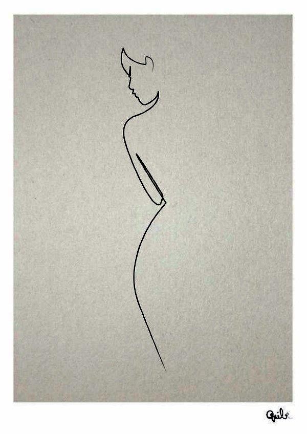40 صورة للوحات فنية باستخدام الخطوط #Lines_Drawings #فن - صورة 11