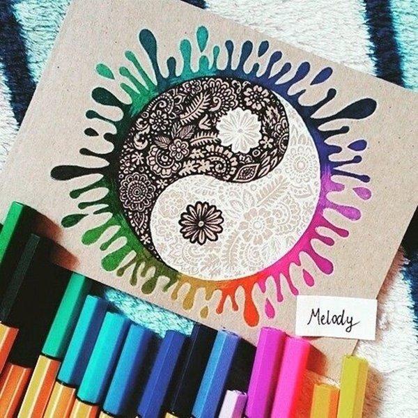 40 صورة ملونة باستخدام أقلام الرصاص #Pencil_Drawing #فن - صورة 11