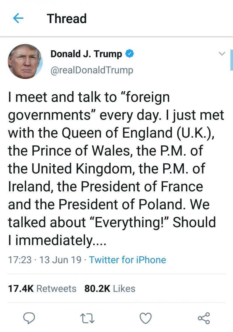بخطأ إملائي يحول #ترامب الأمير #تشارلز إلى أمير الحيتان #مضحك #نهفات