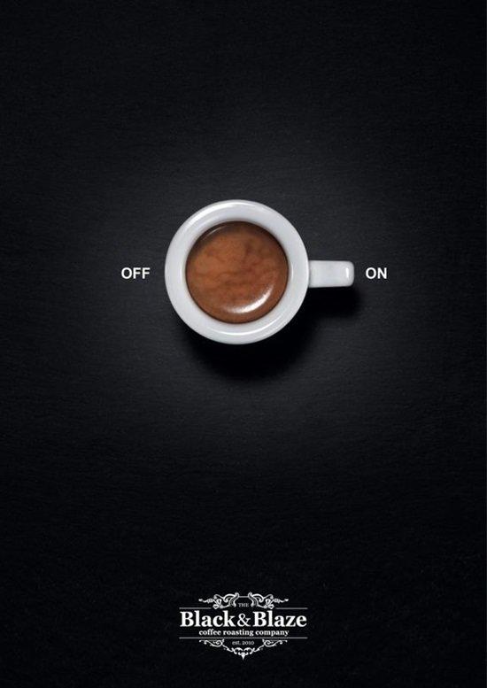عندما يبدع مصممو الإعلانات #تسويق - Black and Blaze Coffee