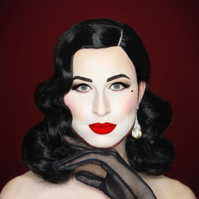 إبداعات الفنان البريطاني #Elliot_Joseph الذي يقوم بتحويل نفسه إلى صور #مشاهير باستخدام #الماكياج فقط #فن - صورة 37
