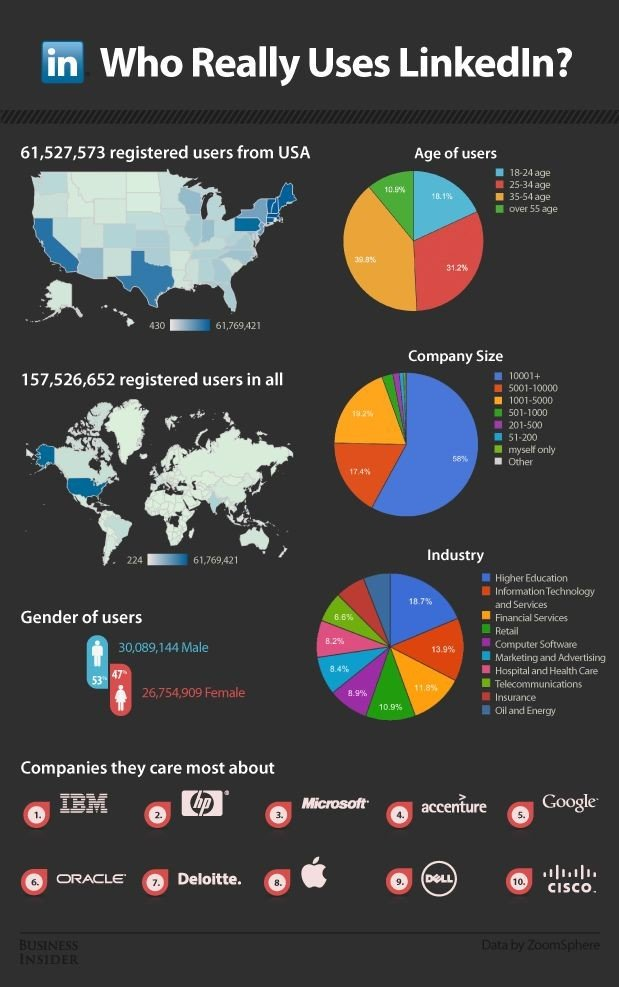 Who really use #Linkedin #Infographics #SMM