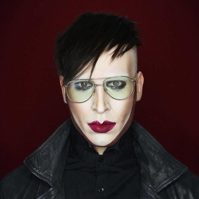 إبداعات الفنان البريطاني #Elliot_Joseph الذي يقوم بتحويل نفسه إلى صور #مشاهير باستخدام #الماكياج فقط #فن - صورة 31