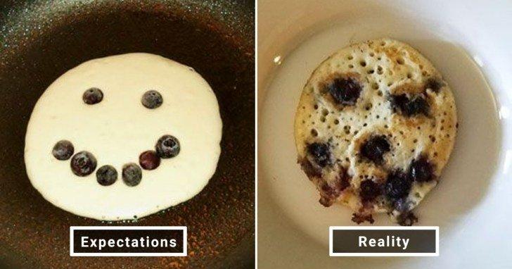 الفرق بين شكل الحلويات والأطعمة بين الوصفات و بعد عملها في المنزل #Pinterest #مضحك #نهفات - صورة 20