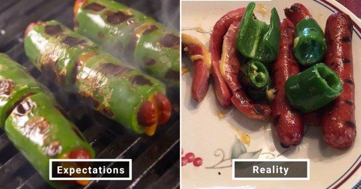 الفرق بين شكل الحلويات والأطعمة بين الوصفات و بعد عملها في المنزل #Pinterest #مضحك #نهفات - صورة 2