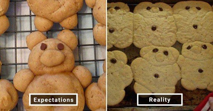 الفرق بين شكل الحلويات والأطعمة بين الوصفات و بعد عملها في المنزل #Pinterest #مضحك #نهفات - صورة 30
