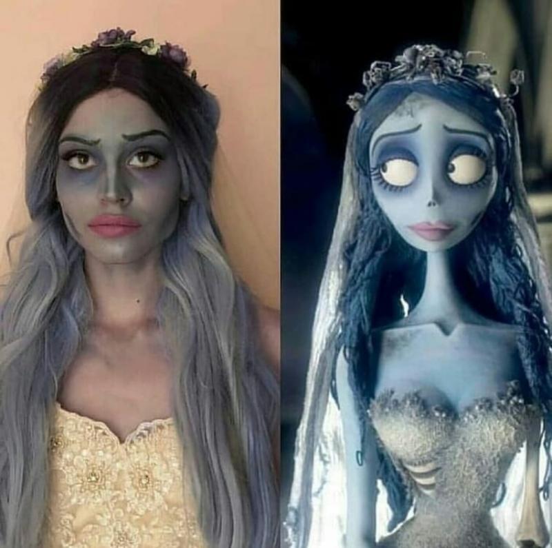 من أعمال الفنانة @mermaidtalia والتي تحول نفسها باستخدام #الماكياج لشخصيات الأفلام #فن - صورة ١