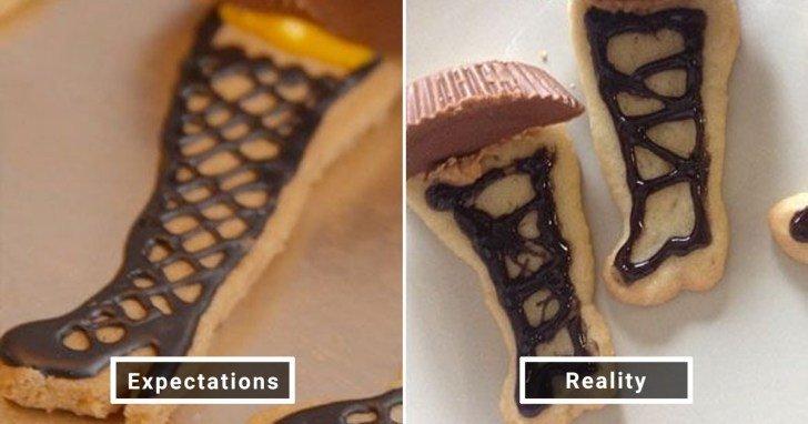 الفرق بين شكل الحلويات والأطعمة بين الوصفات و بعد عملها في المنزل #Pinterest #مضحك #نهفات - صورة 19