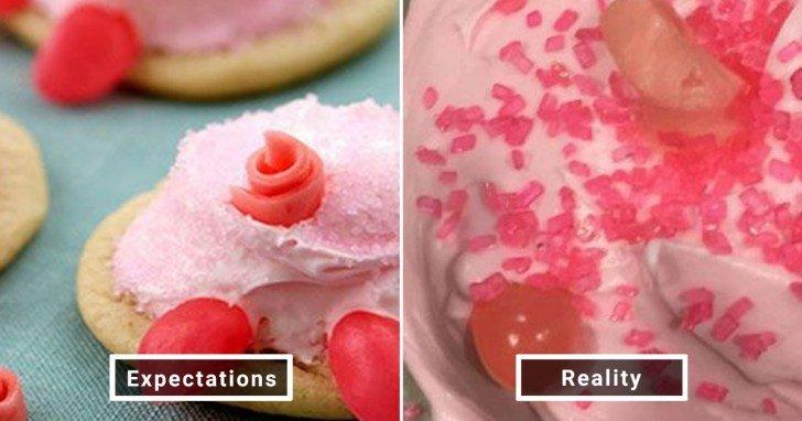 الفرق بين شكل الحلويات والأطعمة بين الوصفات و بعد عملها في المنزل #Pinterest #مضحك #نهفات - صورة 24