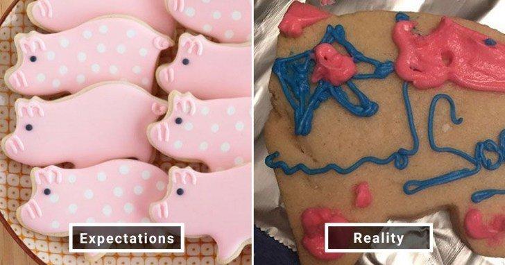 الفرق بين شكل الحلويات والأطعمة بين الوصفات و بعد عملها في المنزل #Pinterest #مضحك #نهفات - صورة 23
