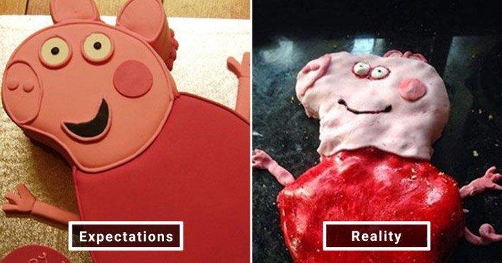 الفرق بين شكل الحلويات والأطعمة بين الوصفات و بعد عملها في المنزل #Pinterest #مضحك #نهفات - صورة 26