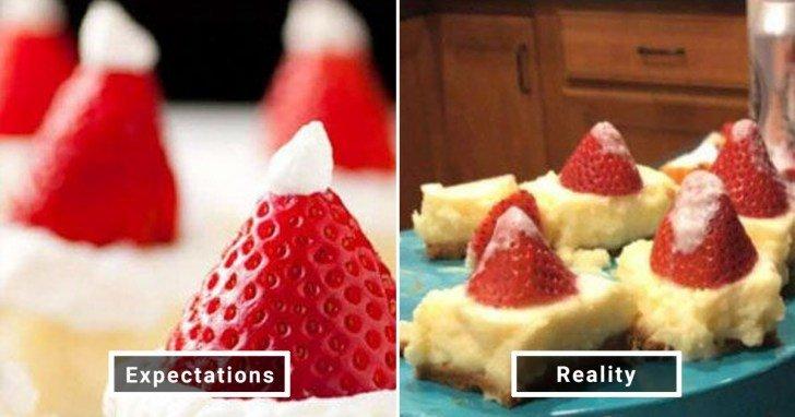 الفرق بين شكل الحلويات والأطعمة بين الوصفات و بعد عملها في المنزل #Pinterest #مضحك #نهفات - صورة 10