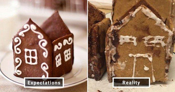الفرق بين شكل الحلويات والأطعمة بين الوصفات و بعد عملها في المنزل #Pinterest #مضحك #نهفات - صورة 29