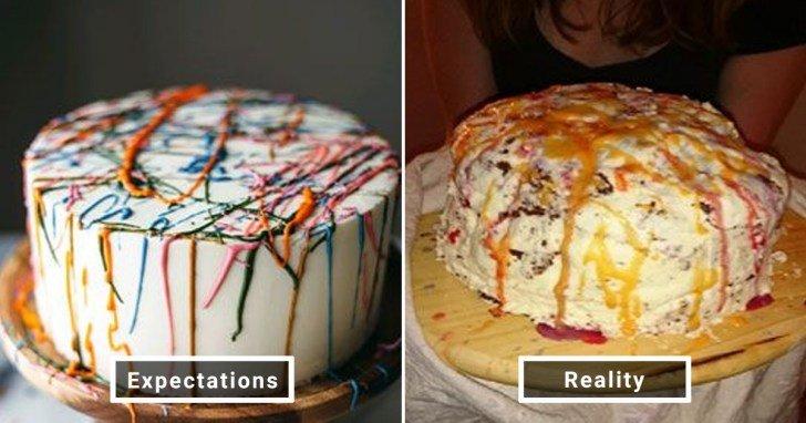 الفرق بين شكل الحلويات والأطعمة بين الوصفات و بعد عملها في المنزل #Pinterest #مضحك #نهفات - صورة 14