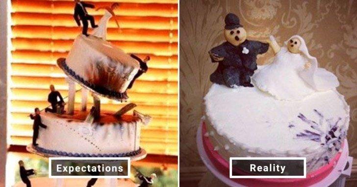 الفرق بين شكل الحلويات والأطعمة بين الوصفات و بعد عملها في المنزل #Pinterest #مضحك #نهفات - صورة 3