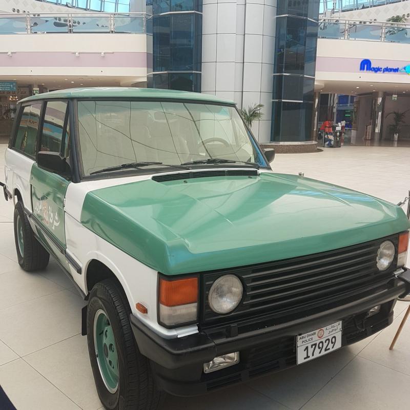 صور من معرض #سيارات شرطة #أبوظبي في #المارينا_مول - صورة ١