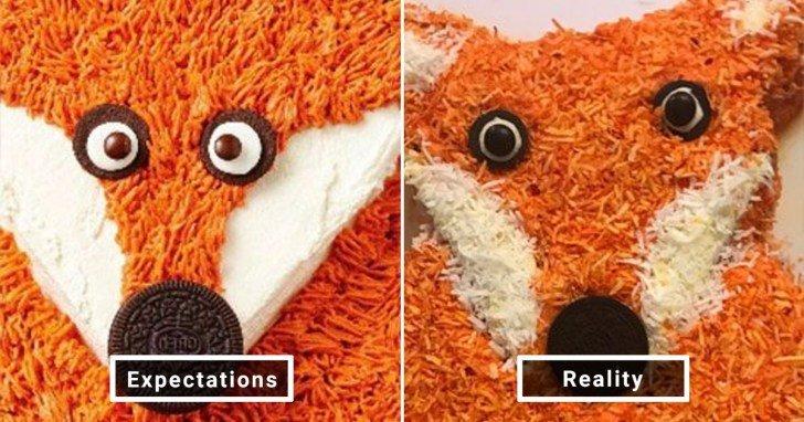 الفرق بين شكل الحلويات والأطعمة بين الوصفات و بعد عملها في المنزل #Pinterest #مضحك #نهفات - صورة 13