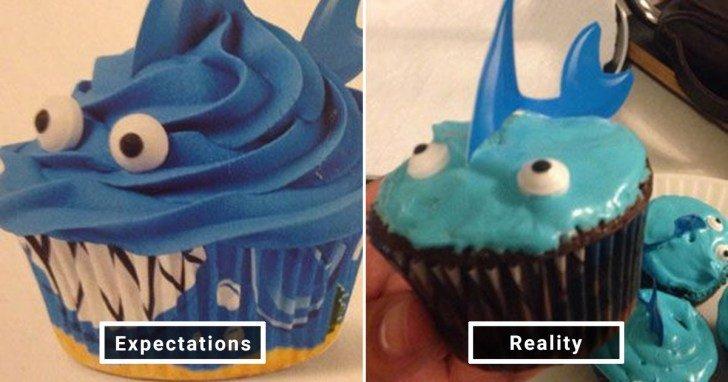 الفرق بين شكل الحلويات والأطعمة بين الوصفات و بعد عملها في المنزل #Pinterest #مضحك #نهفات - صورة 6