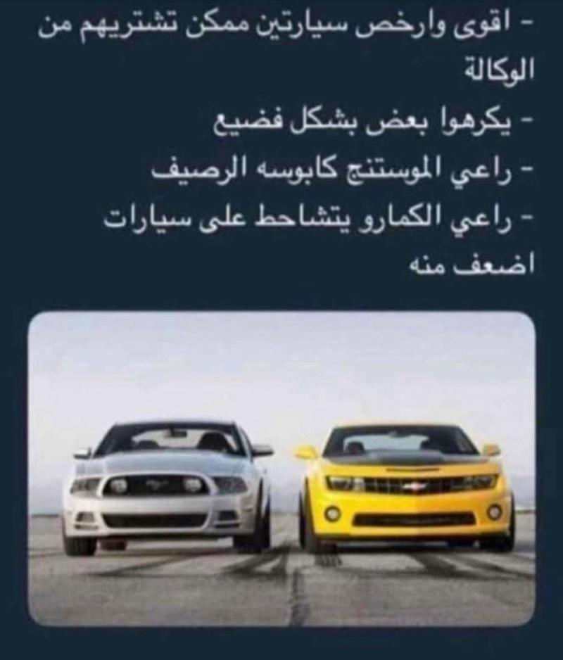 #تحليل_شخصية وتصرفات كل صاحب نوع #سيارات - Mustang and Camaro