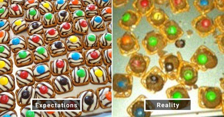 الفرق بين شكل الحلويات والأطعمة بين الوصفات و بعد عملها في المنزل #Pinterest #مضحك #نهفات - صورة 28