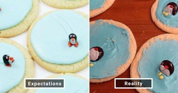 الفرق بين شكل الحلويات والأطعمة بين الوصفات و بعد عملها في المنزل #Pinterest #مضحك #نهفات - صورة 22
