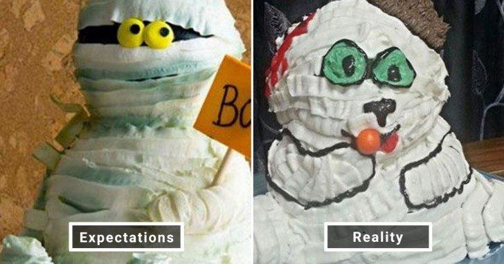 الفرق بين شكل الحلويات والأطعمة بين الوصفات و بعد عملها في المنزل #Pinterest #مضحك #نهفات - صورة 21