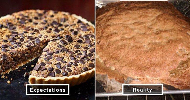الفرق بين شكل الحلويات والأطعمة بين الوصفات و بعد عملها في المنزل #Pinterest #مضحك #نهفات - صورة 9
