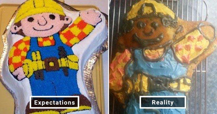 الفرق بين شكل الحلويات والأطعمة بين الوصفات و بعد عملها في المنزل #Pinterest #مضحك #نهفات - صورة 11