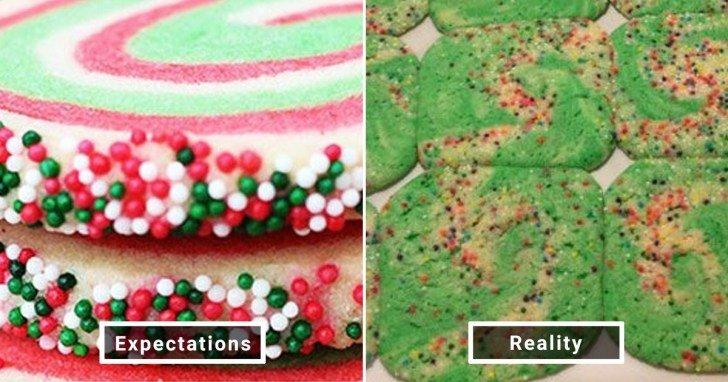 الفرق بين شكل الحلويات والأطعمة بين الوصفات و بعد عملها في المنزل #Pinterest #مضحك #نهفات - صورة 18