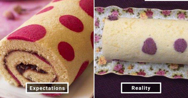 الفرق بين شكل الحلويات والأطعمة بين الوصفات و بعد عملها في المنزل #Pinterest #مضحك #نهفات - صورة 27