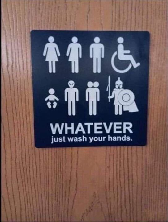 Just wash your hands what ever you are