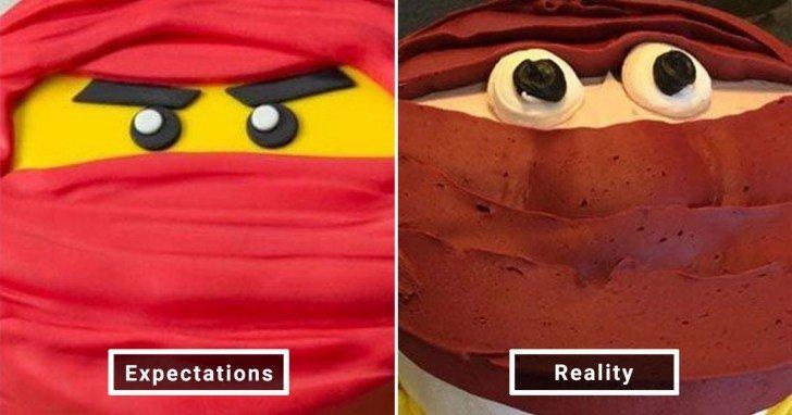 الفرق بين شكل الحلويات والأطعمة بين الوصفات و بعد عملها في المنزل #Pinterest #مضحك #نهفات - صورة 7