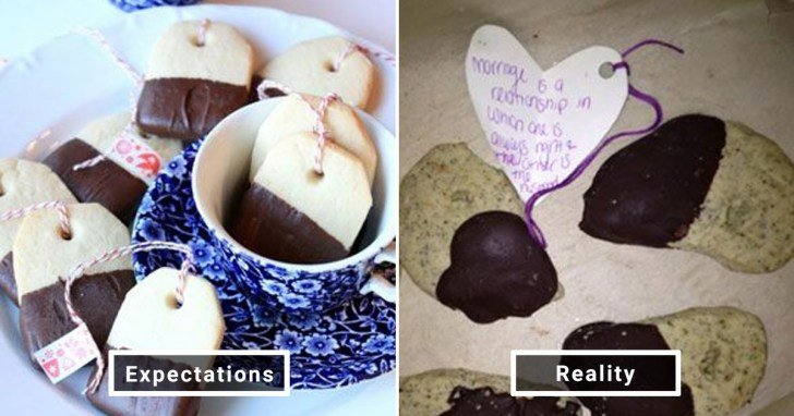 الفرق بين شكل الحلويات والأطعمة بين الوصفات و بعد عملها في المنزل #Pinterest #مضحك #نهفات - صورة 8