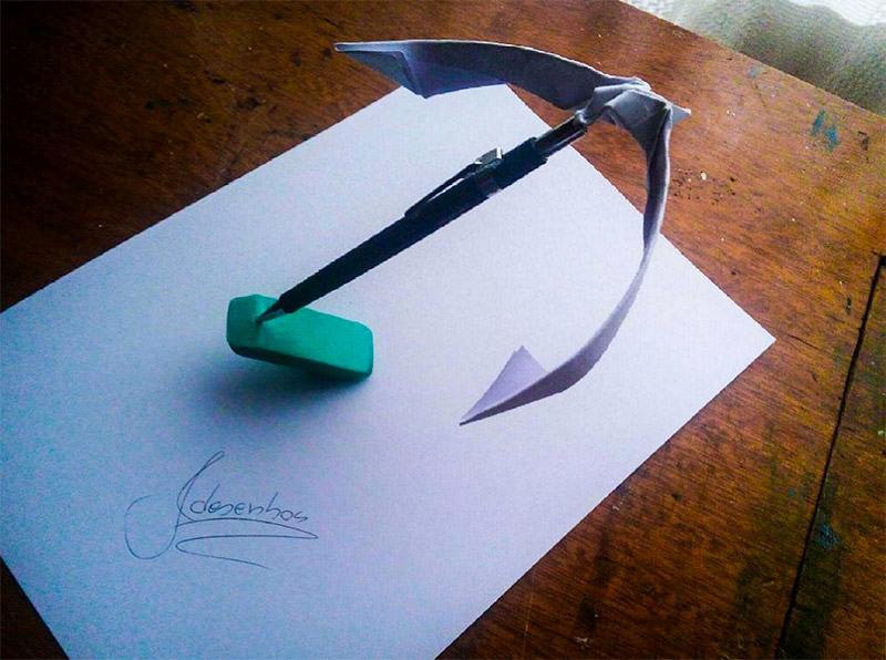 16 لوحة فنية ثلاثية الأبعاد #3D للفنان @naslinhasdocaderno #فن - صورة 2