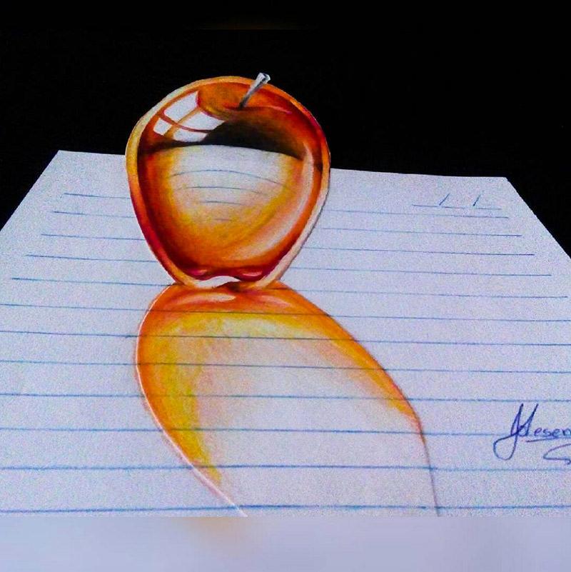 16 لوحة فنية ثلاثية الأبعاد #3D للفنان @naslinhasdocaderno #فن - صورة 5