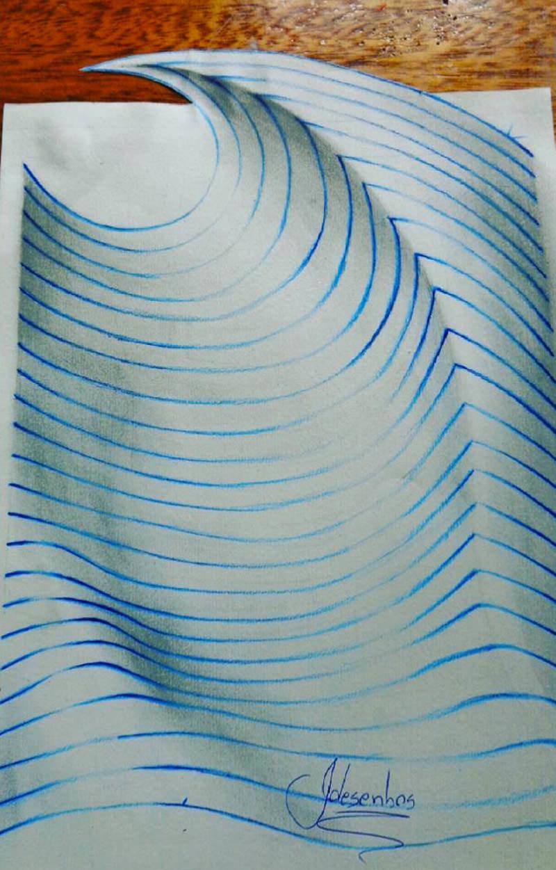 16 لوحة فنية ثلاثية الأبعاد #3D للفنان @naslinhasdocaderno #فن - صورة 8