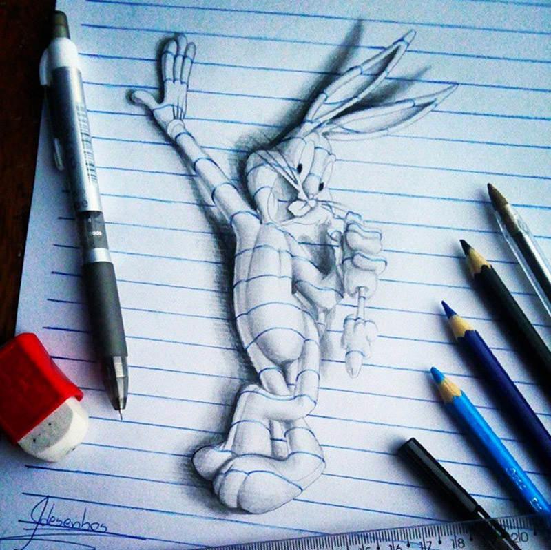 16 لوحة فنية ثلاثية الأبعاد #3D للفنان @naslinhasdocaderno #فن - صورة 14