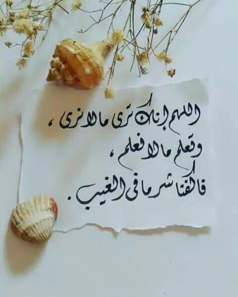 #دعاء - اللهم إنك ترى ما لا نرى وتعلم ما لا نعلم فاكفنا شر ما في الغيب