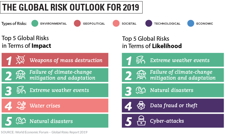 The Top Global Risks in 2019 #Infographic