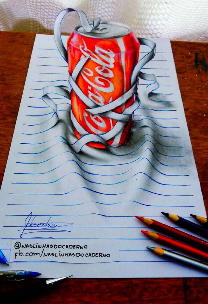 16 لوحة فنية ثلاثية الأبعاد #3D للفنان @naslinhasdocaderno #فن - صورة 10
