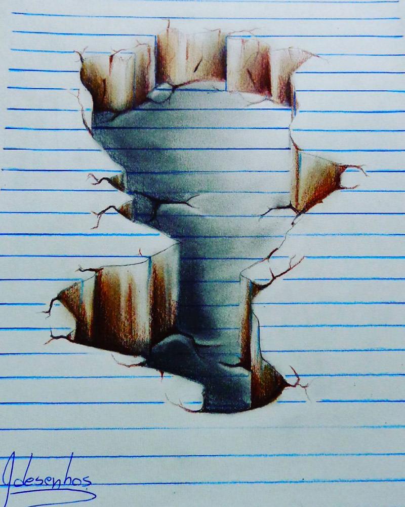 16 لوحة فنية ثلاثية الأبعاد #3D للفنان @naslinhasdocaderno #فن - صورة 9