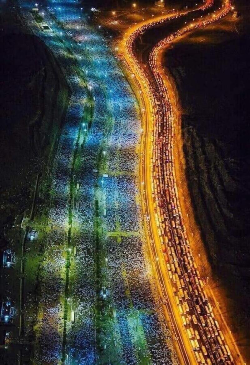 صورة تظهر أعداد الحجيج هذا العام #الحج #مكة_المكرمة #السعودية
