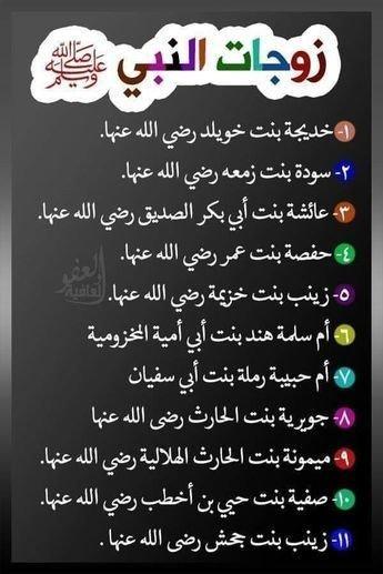 زوجات النبي محمد عليه الصلاة والسلام