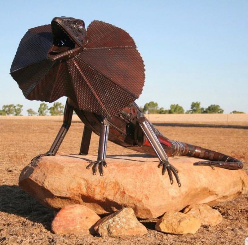 #تماثيل معدنية من مواد معاد تدويرها #فن - صورة ٣