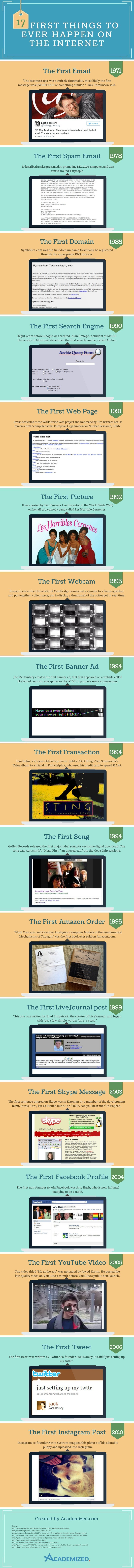 A Look Back at #Internet Firsts #Infographic