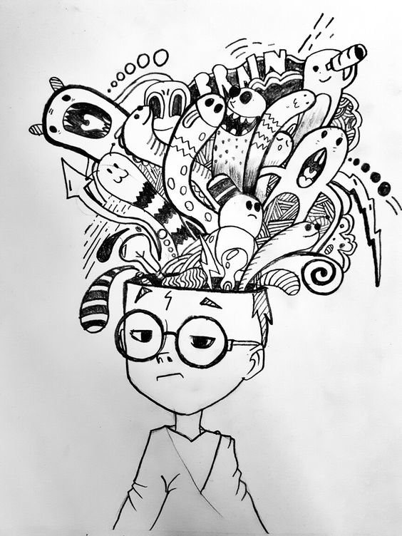 لوحات فنية مبسطة #Doodle #فن - صورة 1