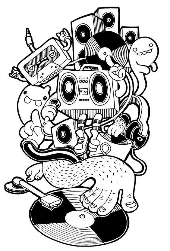لوحات فنية مبسطة #Doodle #فن - صورة 3
