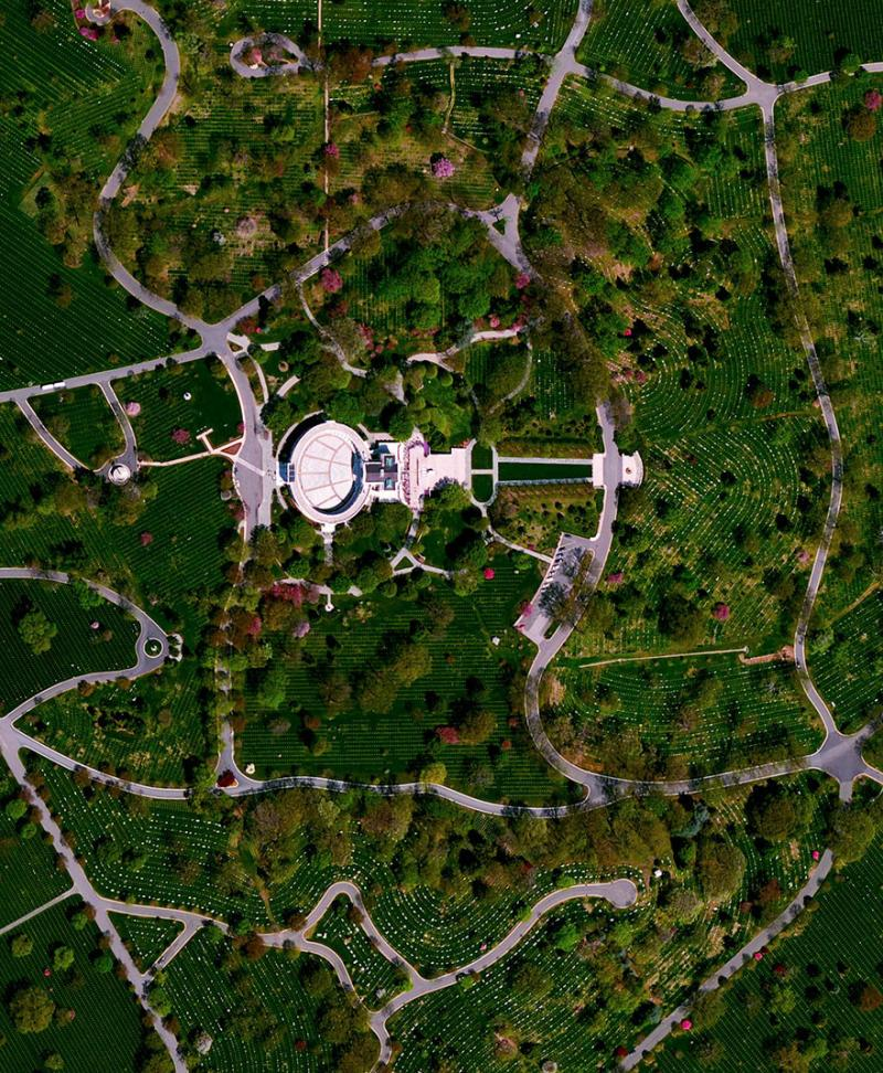 Amazing #Satellite Photos from the #World - Arlington National Cemetery, Arlington County, #Virginia , #United_States - Image 48