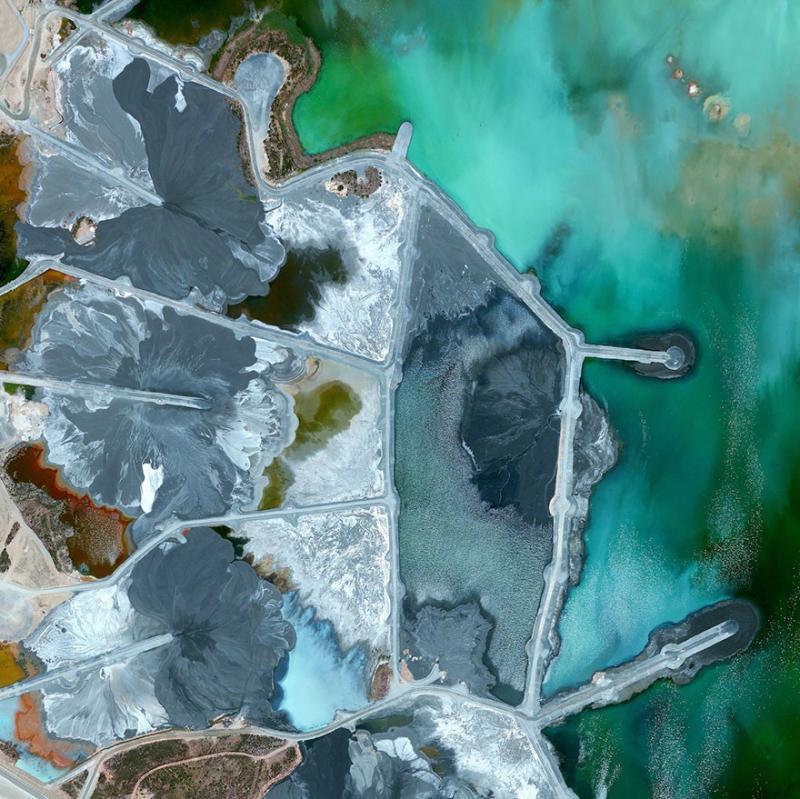 Amazing #Satellite Photos from the #World - Neves-Corvo Mine, Castro Verde Municipality, #Portugal - Image 3